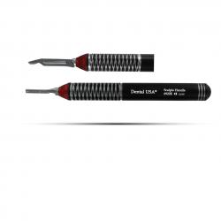 Dental USA SURGERY SCALPEL HANDLE 13mm Diameter BLACK EDITION (6920BE) kom
